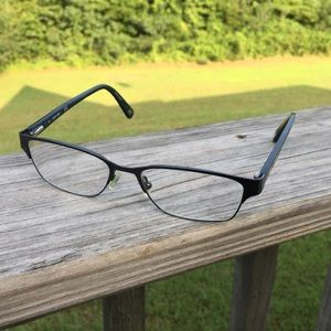 Nine West Rx glasses frames grey speckled blue